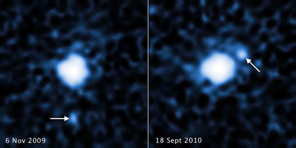"""Der Mond bei Zwergplanet (225088) 2007 OR10 fand sich in mehreren """"Hubble""""-Bildern"""