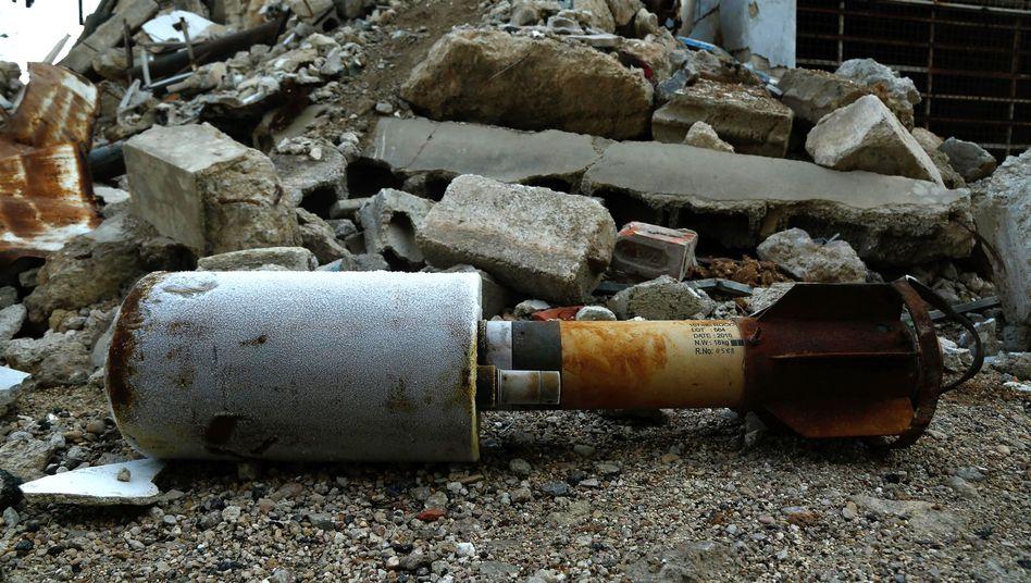 Leere Rakete in Syrien