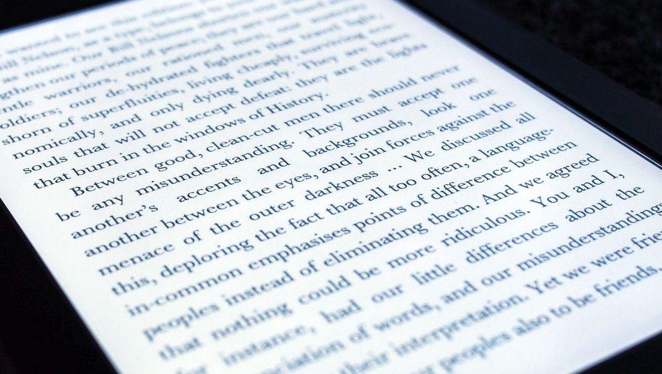 Text auf dem Kindle Paperwhite: Für den Inhalt muss Amazon nicht haften