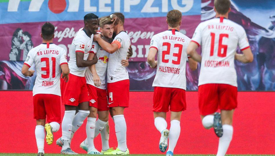 Leipzig steht nach zwei Siegen vorerst auf Rang zwei