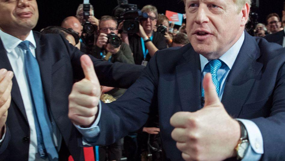 Boris Johnson beim Parteitag der Tories in Manchester