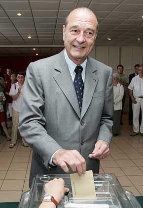 Chirac bei der Stimmabgabe: Hoffnung bis zuletzt