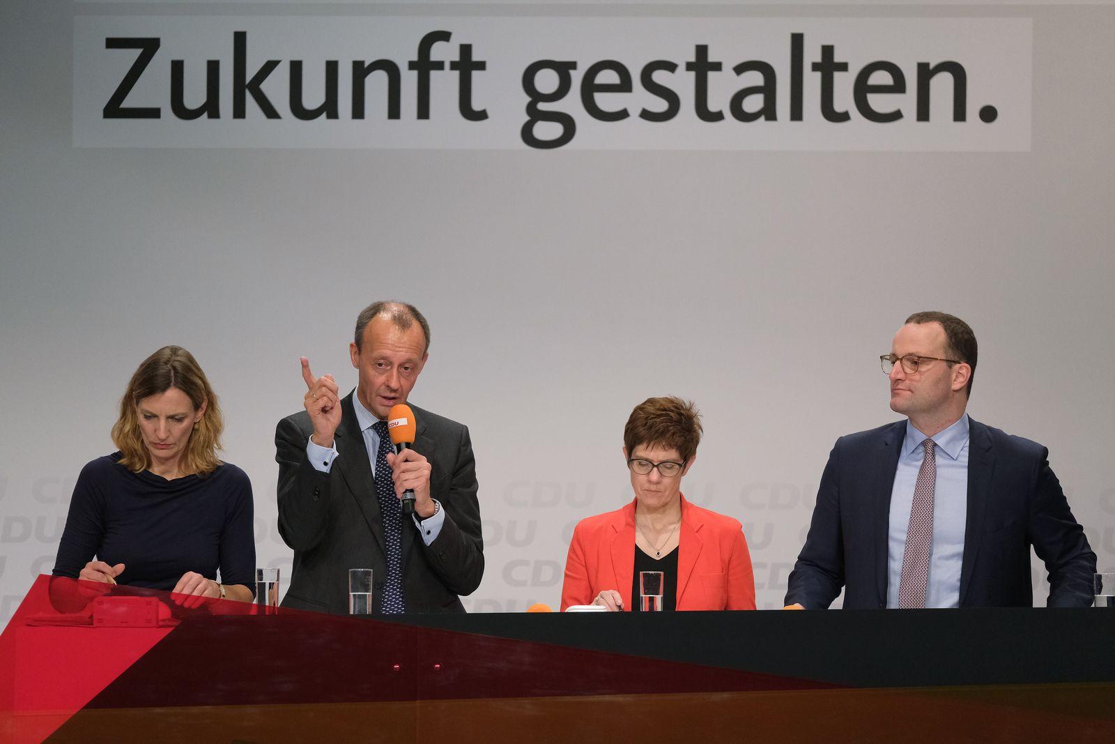 Friedrich Merz Kramp-Karrenbauer Spahn CDU