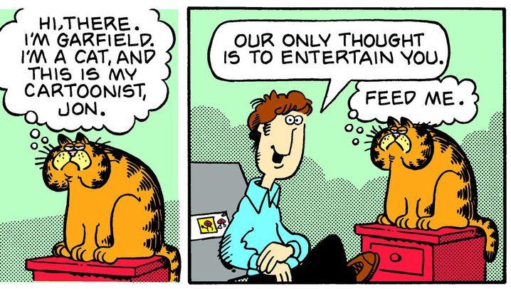 Lasagne, Faulheit, Zynismus: Typisch Garfield - einige Folgen aus vier Jahrzehnten