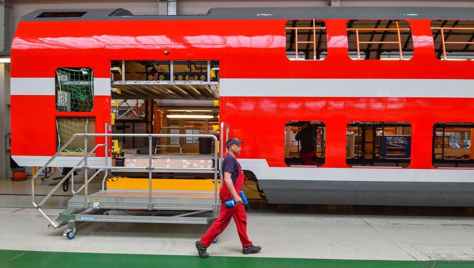 Bombardier-Fertigungshalle in Bautzen (Archivbild)