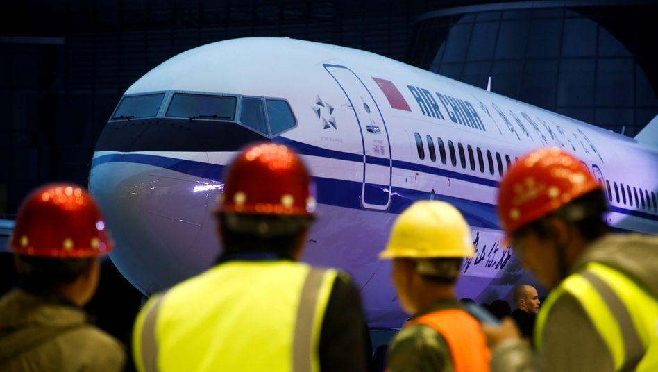 Auslieferung einer Boeing 737 Max 8 an Air China