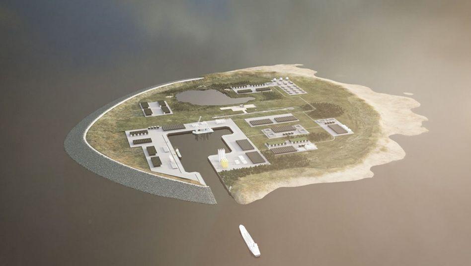 """Modell der geplanten Insel: """"Wir werden 2028 in unserem Stromnetz 100 Prozent erneuerbare Energien haben"""""""