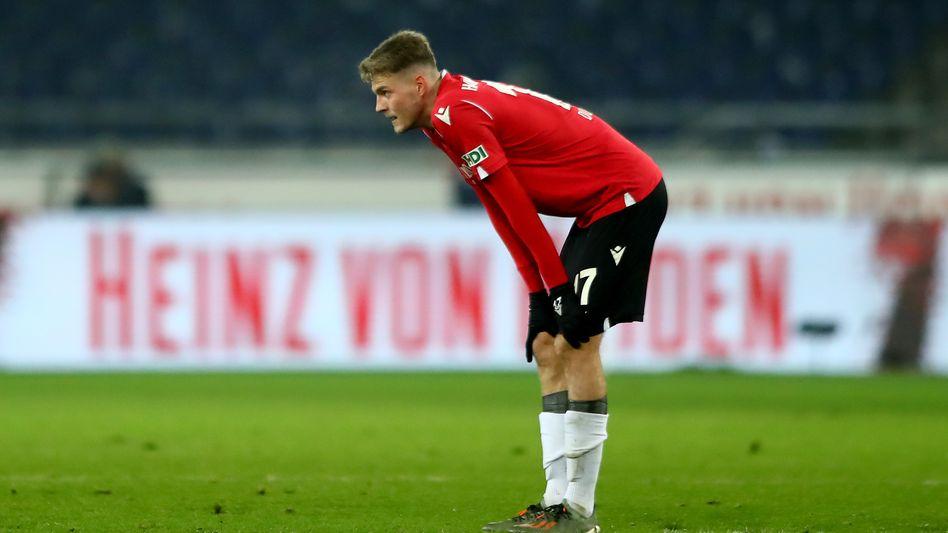 Noch kein Glück unter dem neuen Trainer: Hannovers Marvin Ducksch