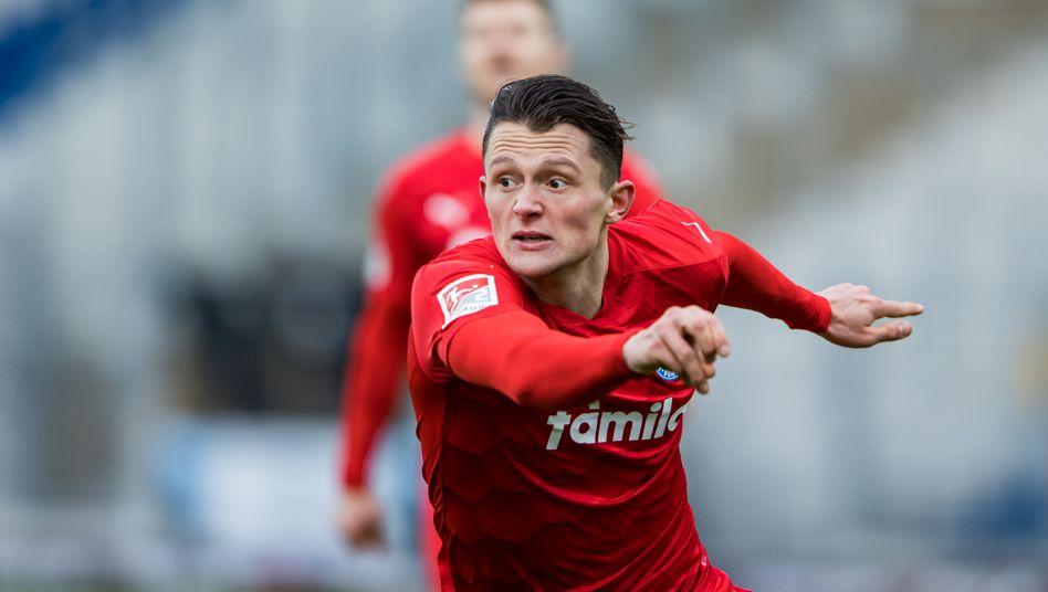 Fabian Reese traf für Kiel zur Führung in Darmstadt