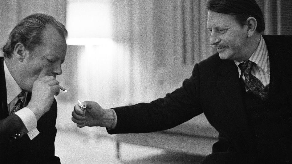 Willy Brandt und Klaus Harpprecht (1972)