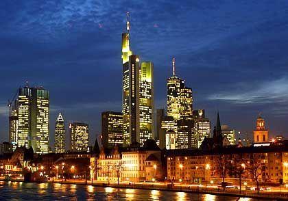 Not lending enough -- German banks in Frankfurt, the country's financial capital.