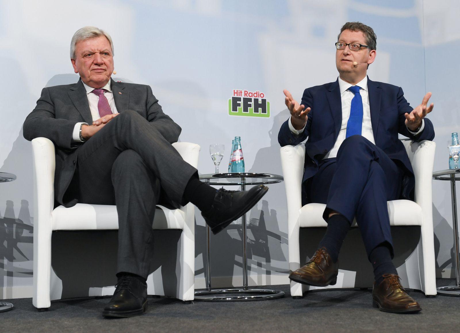 Landtagswahl Hessen - Spitzenkandidaten diskutieren