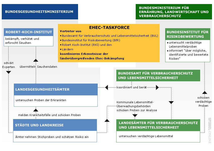 Grafik Organigramm Ehec Taskforce
