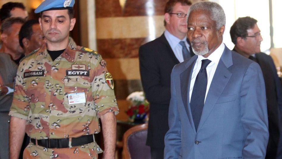 Uno-Sonderbeauftragter Annan (re.): Einigung mit Assad
