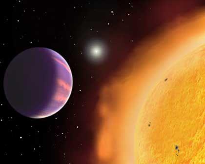 Planet HAT-P-1 (Simulation): Zu groß und zu leicht für die bisherigen Theorien zur Planetenentstehung