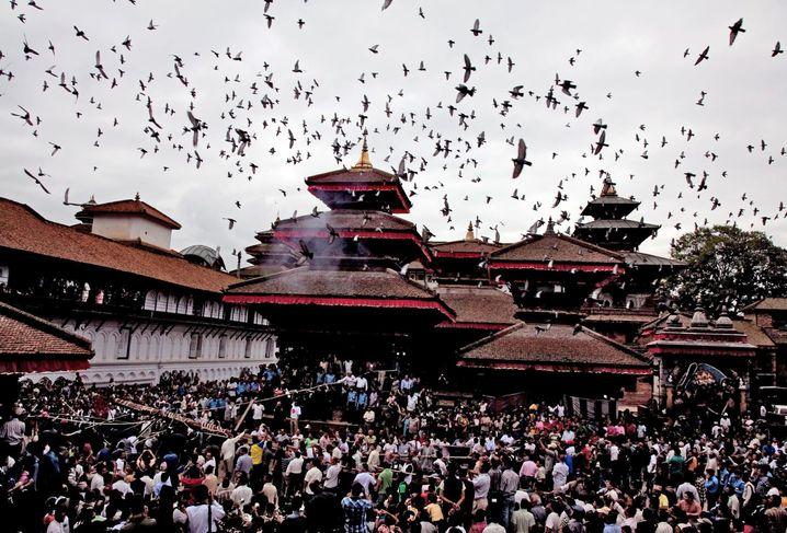 Durbar-Platz in Kathmandu: Die Gebäude sollen zerstört worden sein