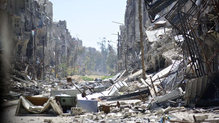 Flüchtlingslager Jarmuk: Ein Stadtteil in Ruinen