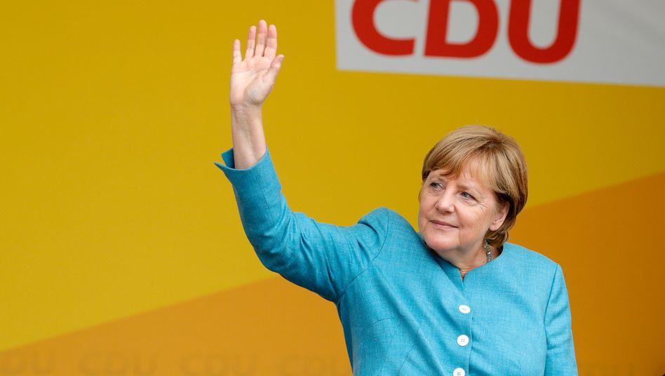 Bundeskanzlerin Merkel auf Wahlkampftour in Koblenz