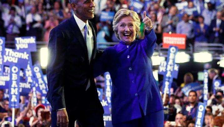 Parteitag der Demokraten: Ich drück dich