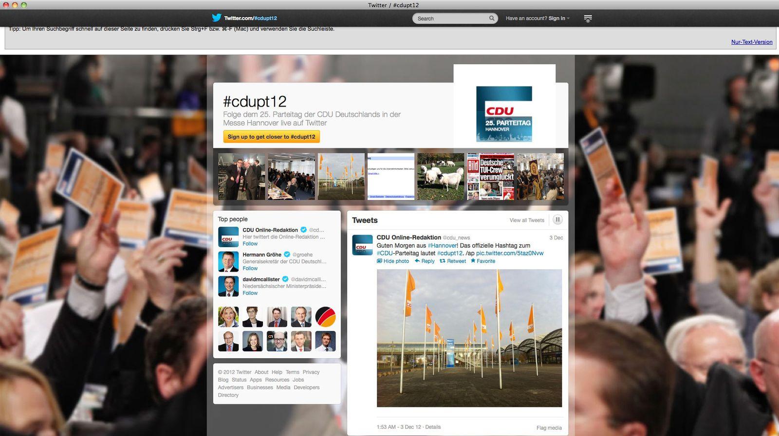 NUR ALS ZITAT Screenshot/ Twitter Hashtag Pages