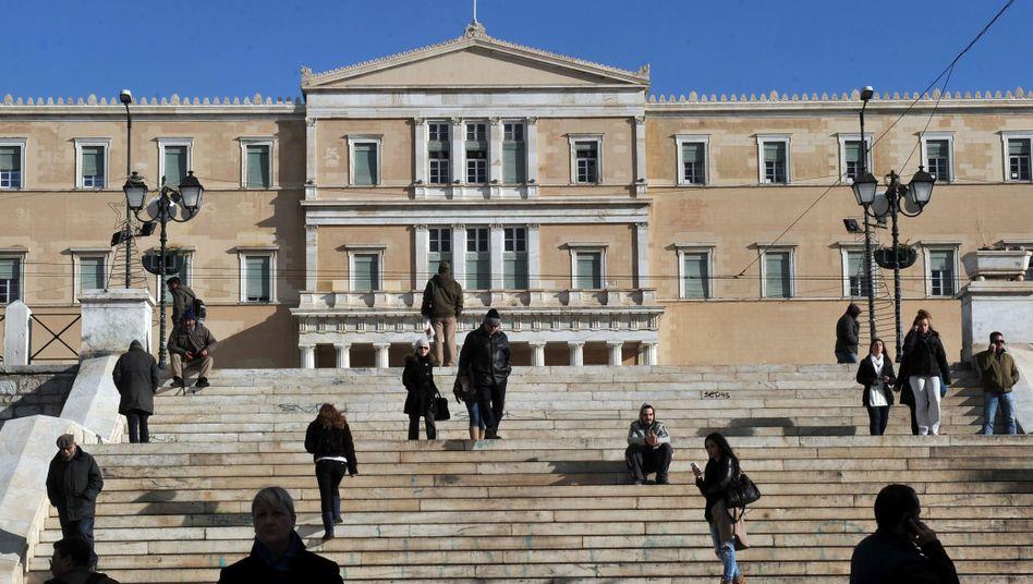 Parlament in Athen: Milliardenüberschuss - allerdings ohne Zinszahlungen