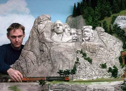 Nachbildung vom Mount Rushmore: In keinem Märklin-Katalog zu finden