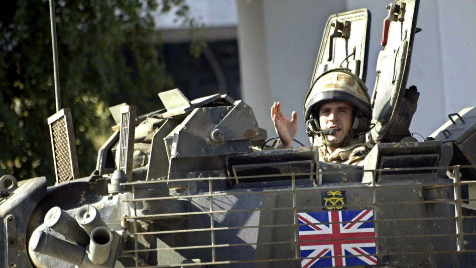 Da war die Technik noch in Ordnung. Britischer Panzer 2007 im irakischen Basra