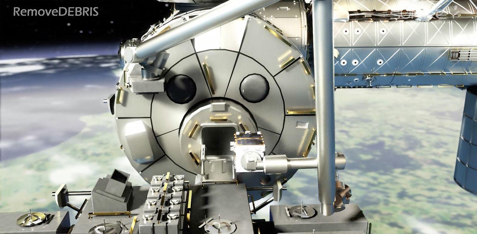 EINMALIGE VERWENDUNG NASA/ Remove DEBRIS