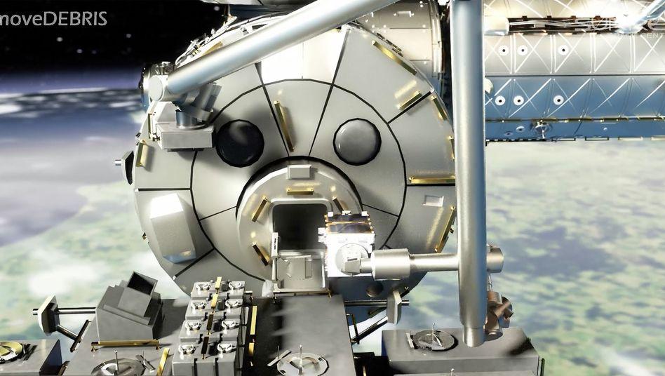 """Der """"Remove Debris""""-Satellit wurde von der Internationalen Raumstation aus ins Weltall ausgesetzt"""