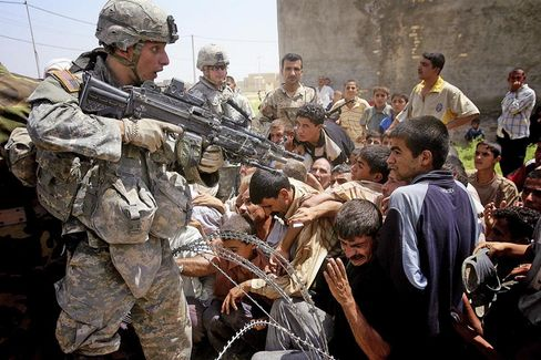 US soldiers in Iraq.