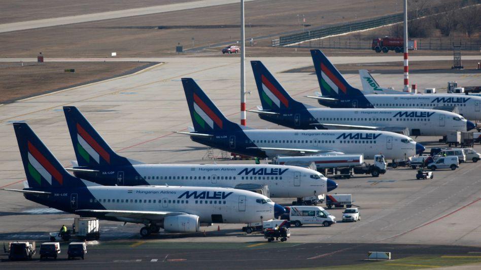 Malev-Maschinen am Budapester Flughafen: Unternehmen droht die Pleite
