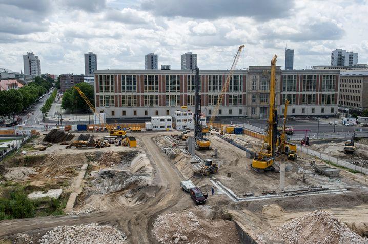 Baustelle des neuen Stadtschlosses: Wann wird es fertig?