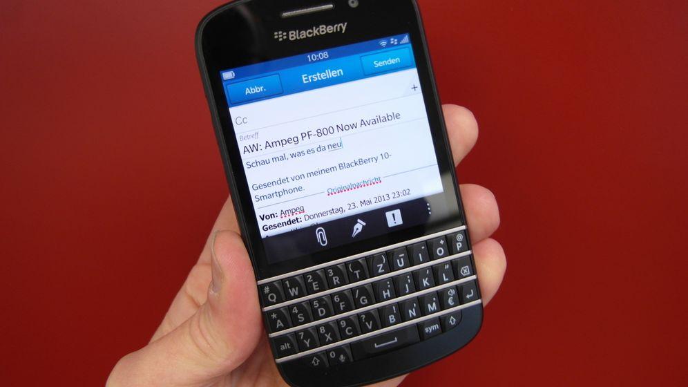 Blackberry Q10 im Test: Mit Touchscreen und Tastatur