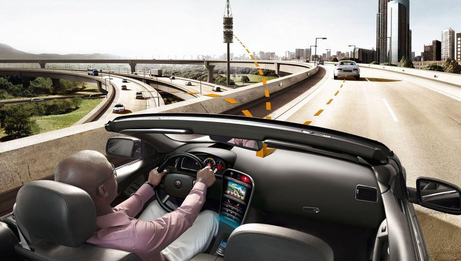 Car-to-X-Kommunikation: Autos senden Daten an andere Verkehrsteilnehmer