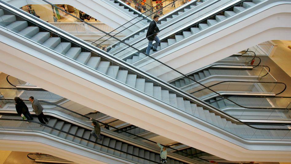 Schlecht besuchtes Einkaufszentrum