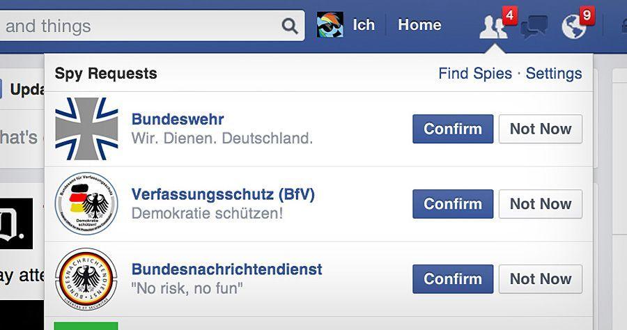 Facebook-Seite (Montage von SPIEGEL ONLINE): Die Regierung gibt neue Details zur Überwachung sozialer Medien preis
