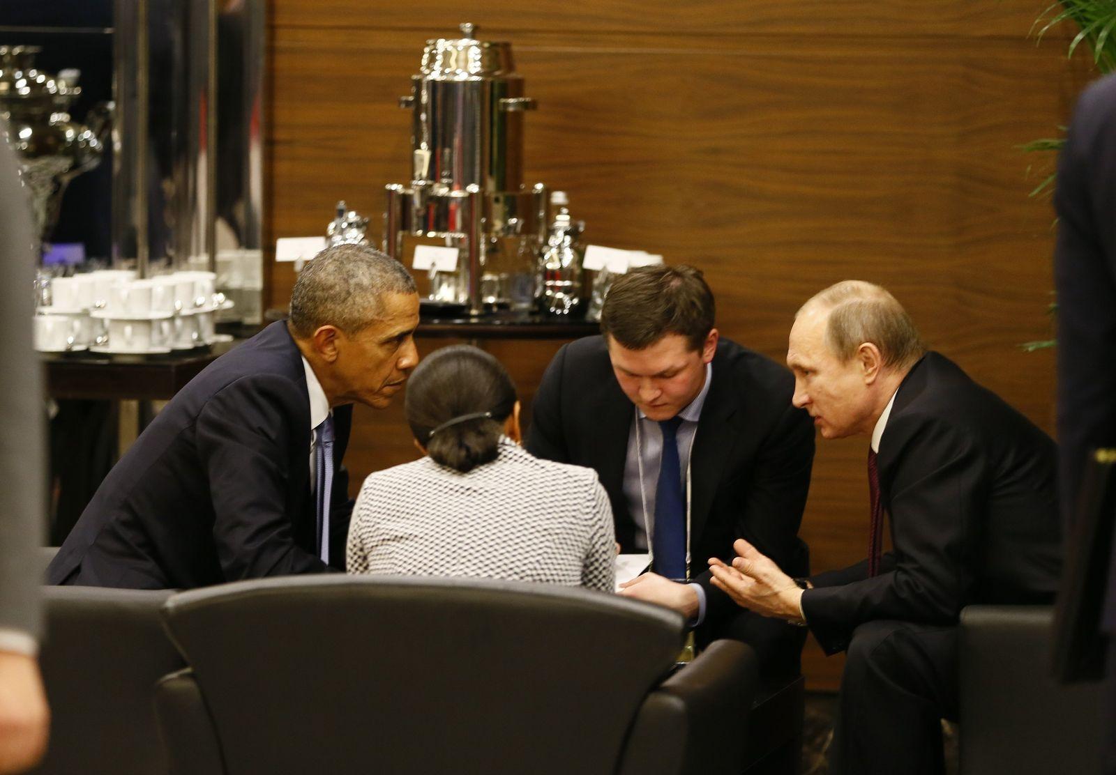 Türkei/ G20/ Barack Obama/ Vladimir Putin