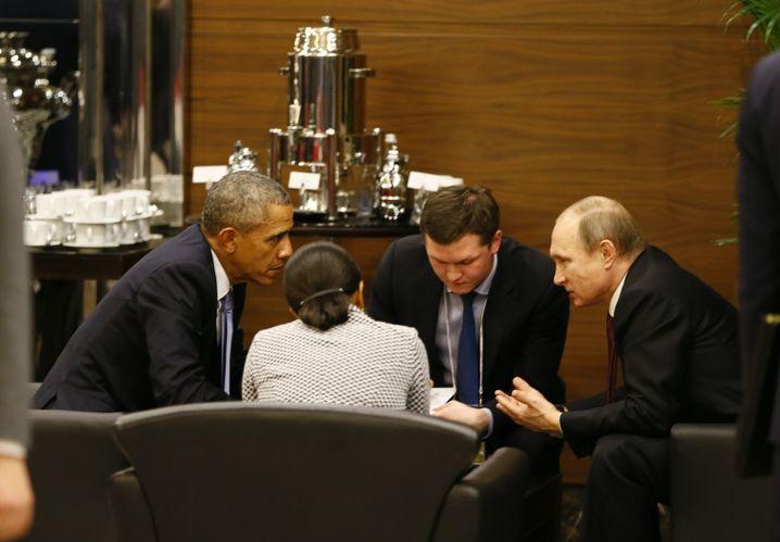 Obama und Putin beim Gipfel: Zusammenrücken gegen den Terrorismus?