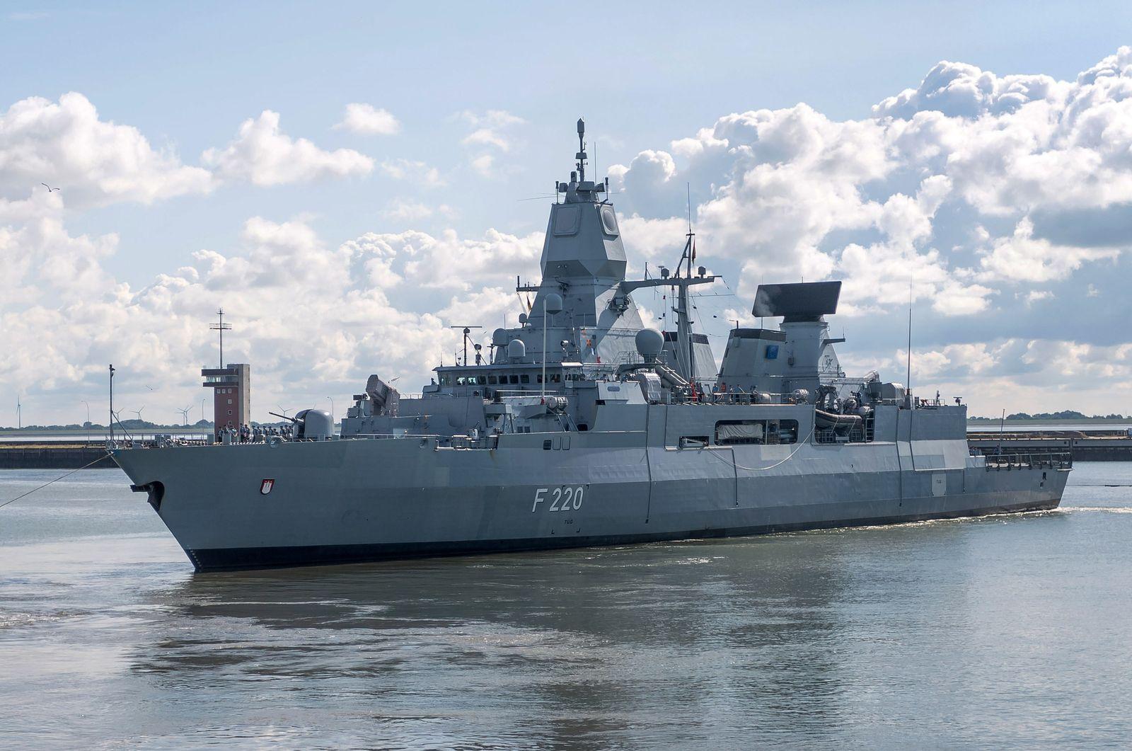 """Fregatte """"Hamburg"""" im Libyen-Einsatz"""