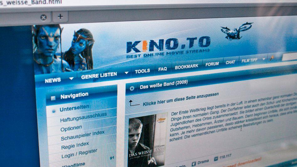 Kino.to: Links zu illegalen Kopien von Filmen und Serienepisoden