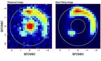 Einstein-Ring: Gravitation lenkt das Licht ferner Galaxien ab