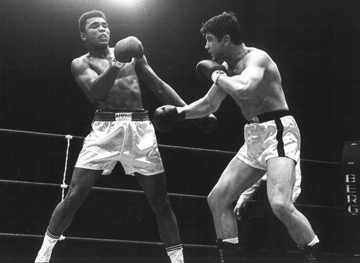Karl Mildenberger (r.), Muhammad Ali