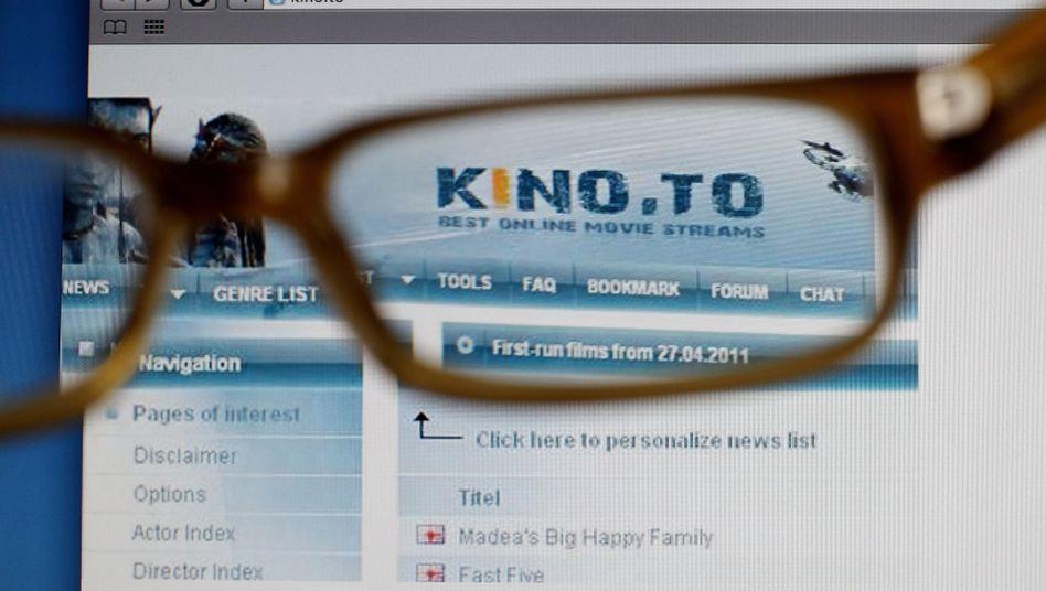 Filmportal Kino.to (Screenshot): Millionengewinne mit Raubkopien
