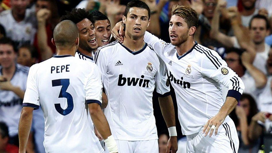 Torschütze Ronaldo (2.v.r.): Erster Titel in dieser Saison