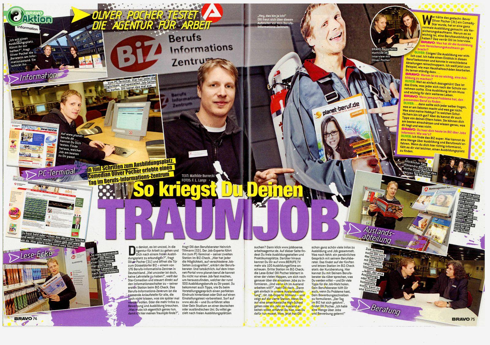 """EINMALIGE VERWENDUNG NUR ALS ZITAT SP 14/2010 """"Bravo"""" / Pocher Berufsinformationszentrum"""