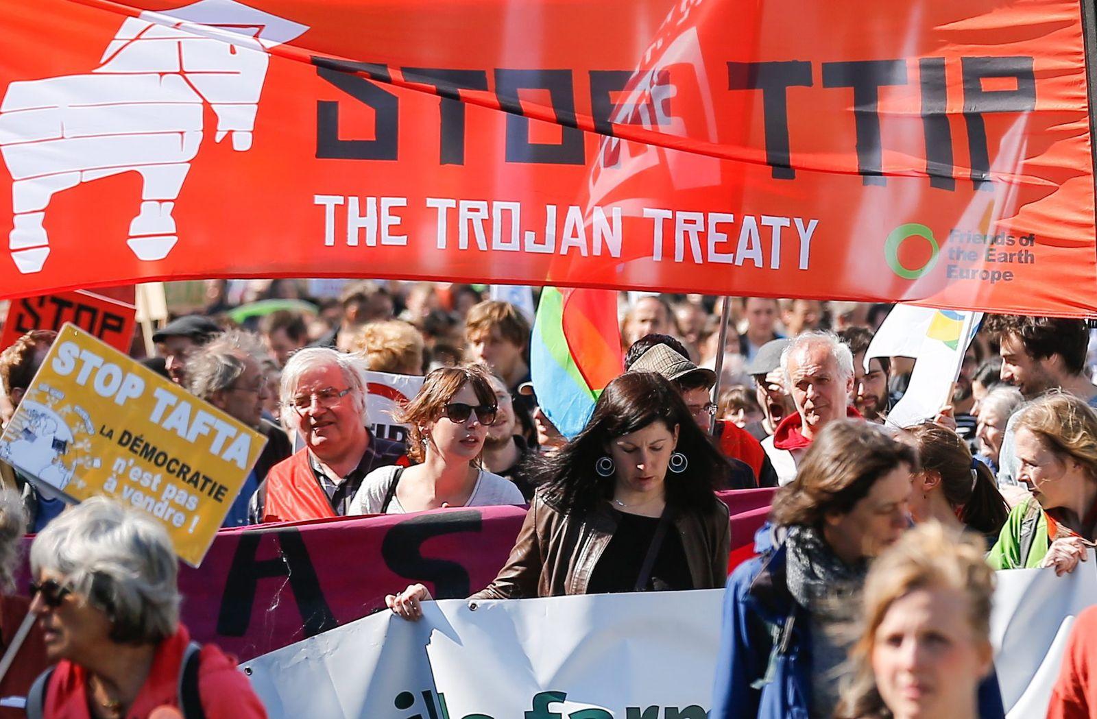 TTIP/ Freihandelsabkommen/ Demonstration/ Brussels