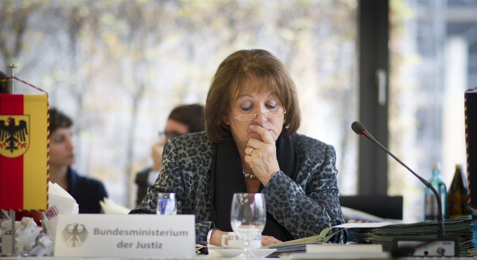 NICHT VERWENDEN Bundesjustizministerin Sabine Leutheusser-Schnarrenberger