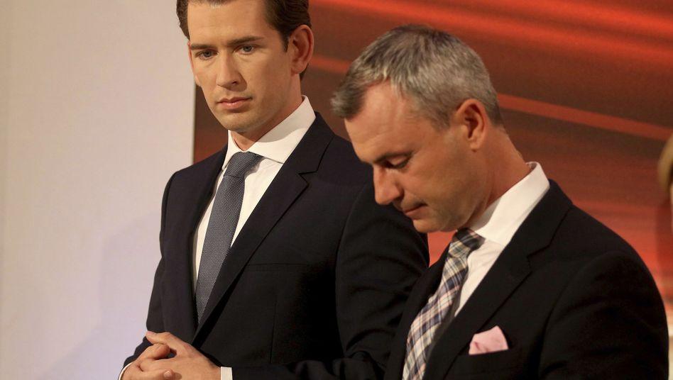 Wahlsieger Sebastian Kurz (l., ÖVP), Wahlverlierer Norbert Hofer (FPÖ)