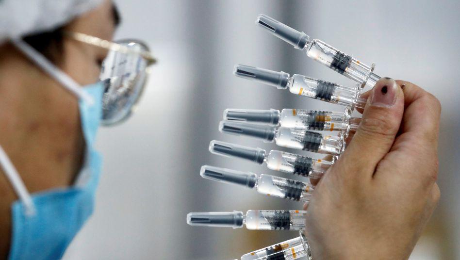Qualitätscheck eines Impfstoffs