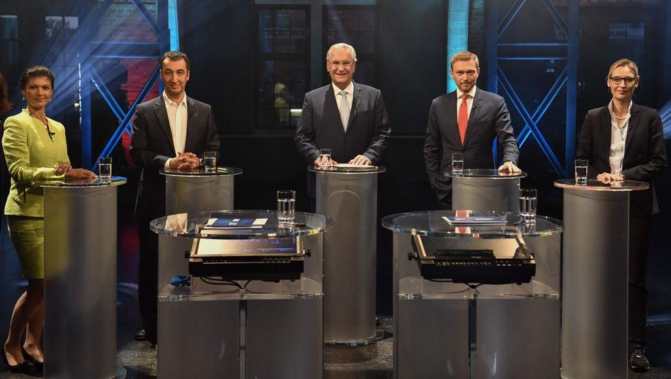 Wagenknecht, Özdemir, Herrmann, Lindner, Weidel